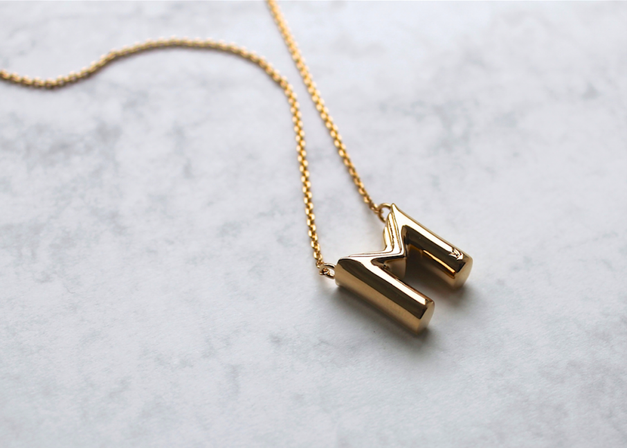 Louis vuitton letter necklace michaela forni bloglovin for Louis vuitton letter necklace