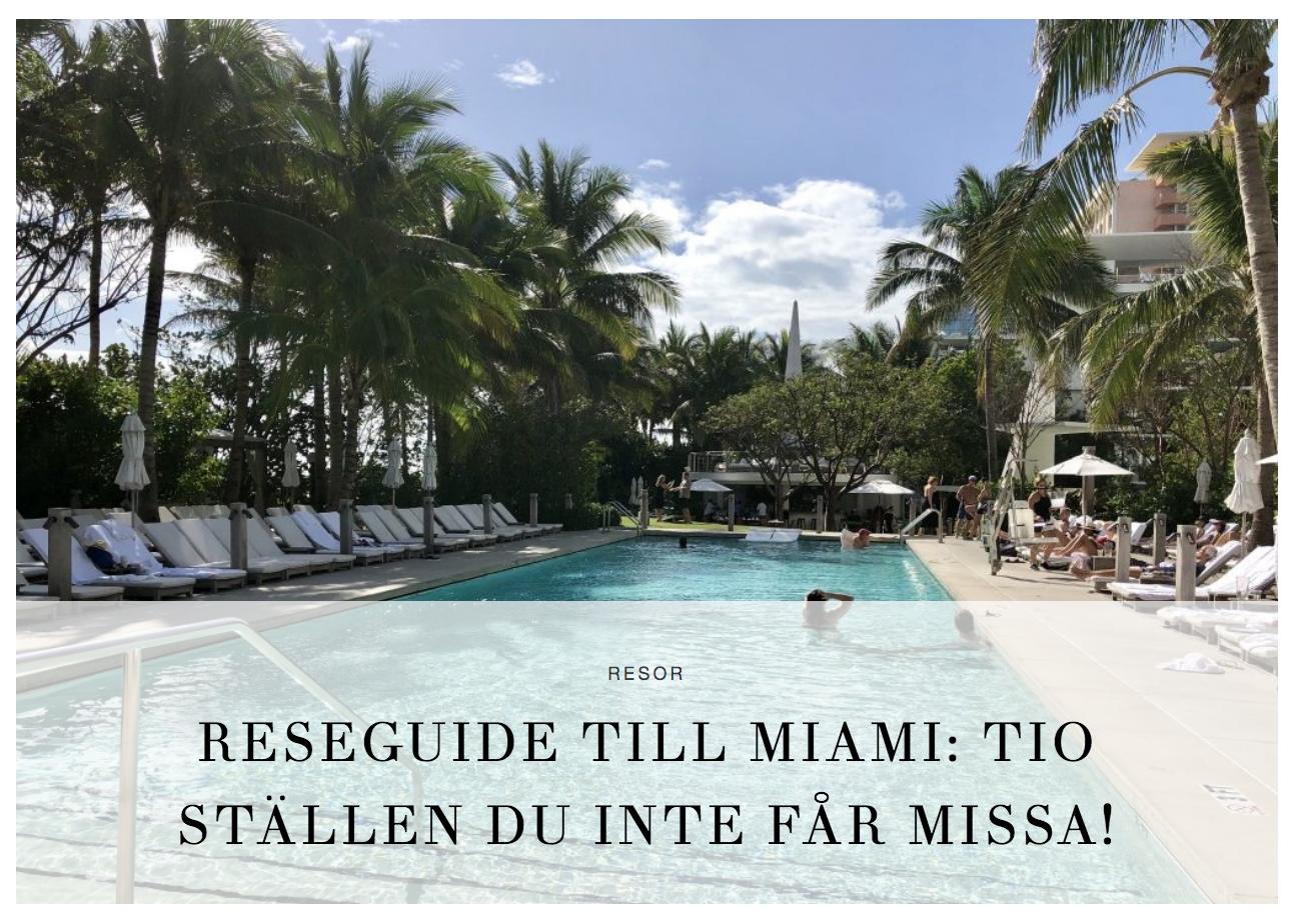 """Veckans lista: Miamitips, """"Jag är ingen hockeyfru"""" och Hugo Rosas"""