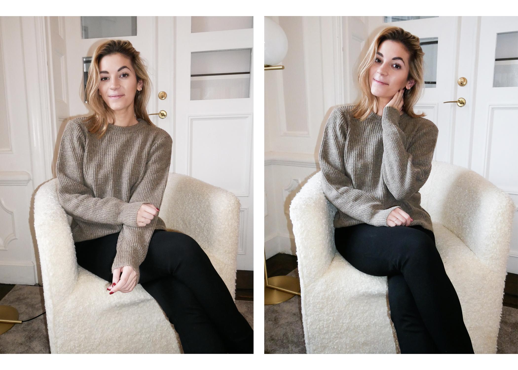 Eftersom att vintern fortfarande är ett faktum kändes en ny stickad tröja  (klick!) som en bra idé. Jag tänkte ha den över mina andra plagg för att  hålla ... 515d0c4f173b7